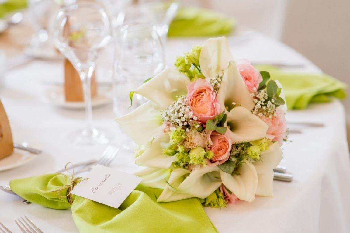 Décoration florale table de mariage -photographe reportage mariage Meurthe et Moselle-www.gregory clement.fr
