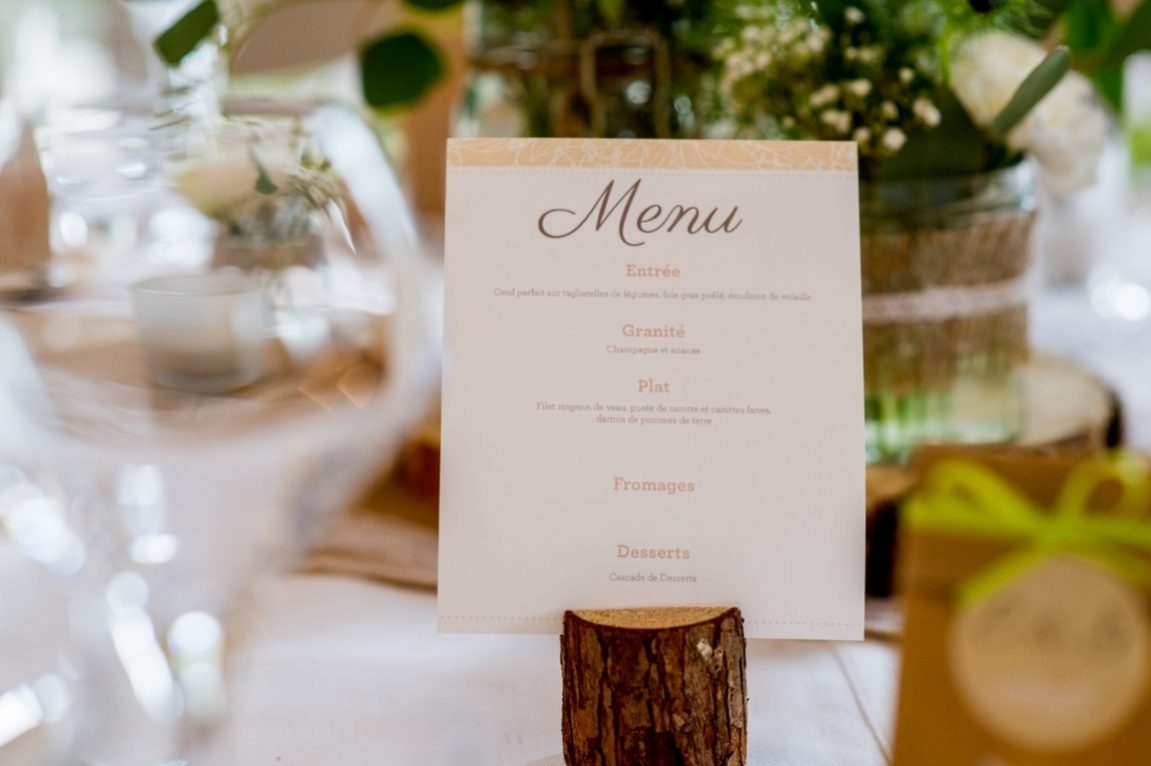 Gros plan sur menu mariage Luxembourg - photographe mariage Nancy- wedding planner luxembourg www.gregory clement.fr