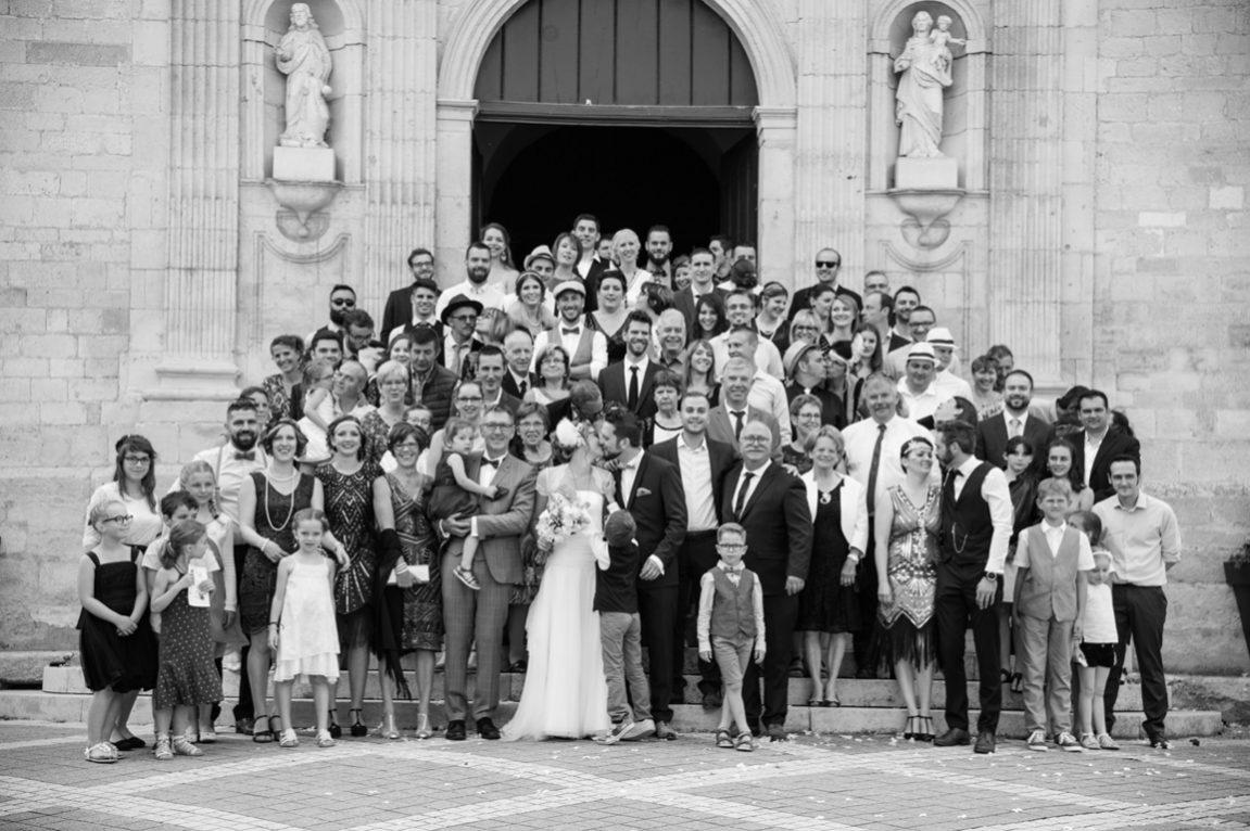 Photos de groupe mariage photographe Nancy- photos de mariage en noir et blanc -www.gregory clement.fr